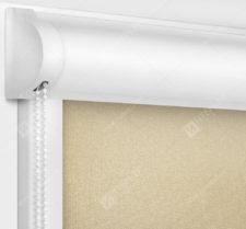 Рулонные кассетные шторы УНИ - Металлик темно-бежевый