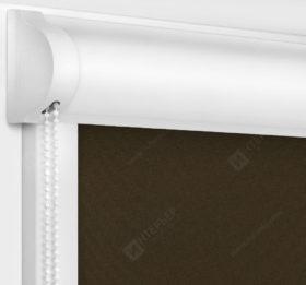 Рулонные кассетные шторы УНИ - Респект блэкаут коричневый