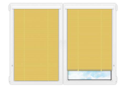 Жалюзи Изолайт 25 мм на пластиковые окна - цвет цинково-желтый
