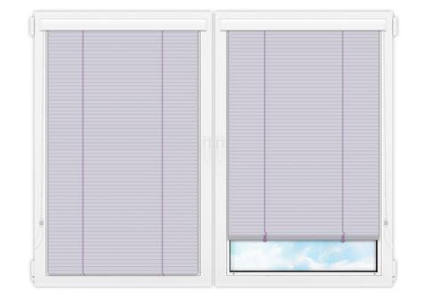 Жалюзи Изолайт 25 мм на пластиковые окна - цвет бледно-лиловый