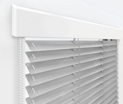 Жалюзи Изолайт 25 мм на пластиковые окна - цвет серебристый металлик