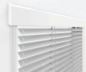 Жалюзи Изолайт 16 мм на пластиковые окна - цвет серебристый металлик