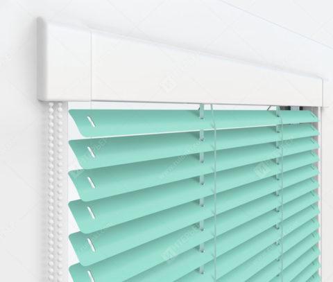 Жалюзи Изотра 25 мм на пластиковые окна - цвет светло-зеленый