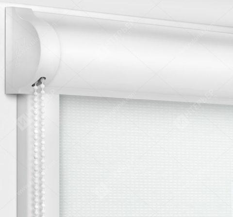 Рулонные кассетные шторы УНИ - Корсо белый
