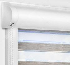 Рулонные кассетные шторы УНИ - Гэлакси коричневый