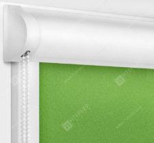 Рулонные кассетные шторы УНИ - Куба зеленый