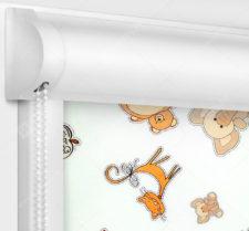 Рулонные кассетные шторы УНИ - Зоопарк Блэкаут