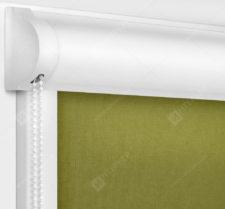 Рулонные кассетные шторы УНИ - Карина оливковый