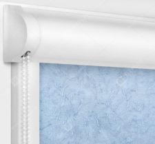 Рулонные кассетные шторы УНИ - Шелк морозно-голубой