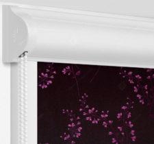Рулонные кассетные шторы УНИ - Амальфи фуксия на пластиковые окна