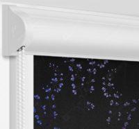 Рулонные кассетные шторы УНИ - Амальфи голубой на пластиковые окна