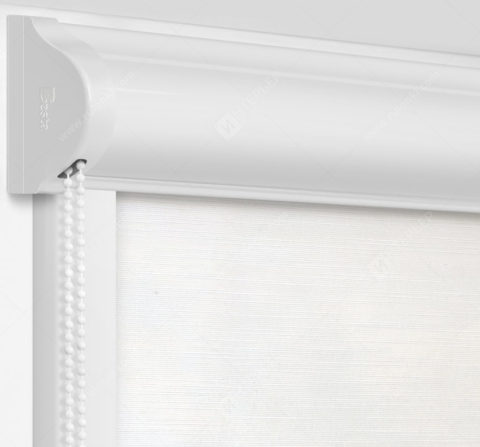 Рулонные кассетные шторы УНИ - Андрия белый на пластиковые окна