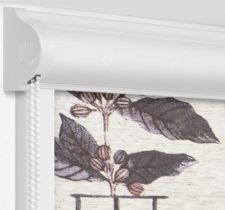 Рулонные кассетные шторы УНИ - Арабика на пластиковые окна