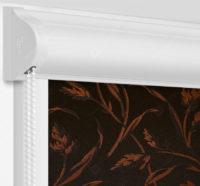 Рулонные кассетные шторы УНИ - Баски димаут оранжевый на пластиковые окна