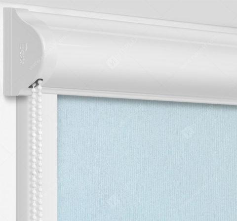 Рулонные кассетные шторы УНИ - Монако-светло-серый на пластиковые окна