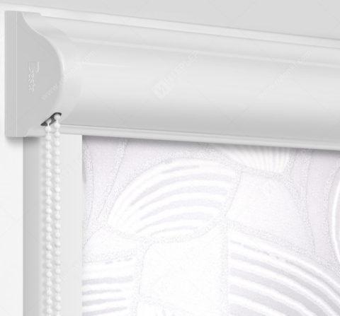 Рулонные кассетные шторы УНИ - Ницца серебро на пластиковые окна