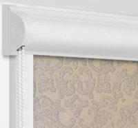 Рулонные кассетные шторы УНИ - Палау коричневый на пластиковые окна