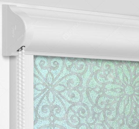 Рулонные кассетные шторы УНИ - Риано мятный на пластиковые окна
