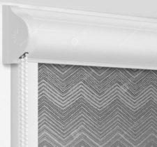 Рулонные кассетные шторы УНИ - Шерни серый на пластиковые окна