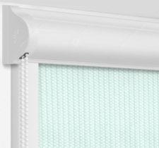 Рулонные кассетные шторы УНИ - Севилья мятный на пластиковые окна
